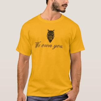 "Camiseta Coruja de Illuminati ""nós possuímo-lo"" t-shirt"