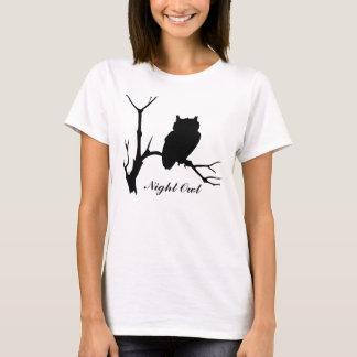 Camiseta Coruja de noite: T-shirt da silhueta da coruja