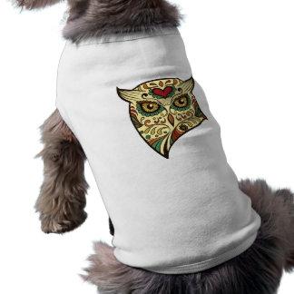 Camiseta Coruja do crânio do açúcar - design do tatuagem