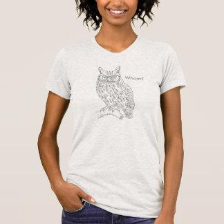 Camiseta Coruja esperta do hipster com as cinzas dos vidros