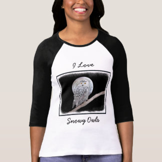 Camiseta Coruja nevado e lua