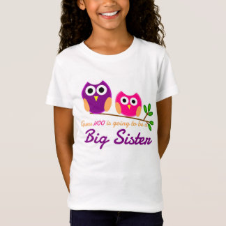 Camiseta Coruja, suposição que está indo ser uma irmã mais