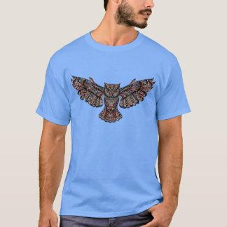 Camiseta Coruja tribal colorida do vôo