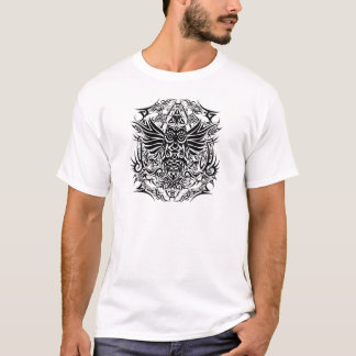 Camiseta Coruja tribal do tatuagem