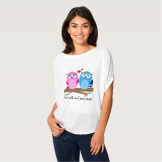 Camiseta Corujas bonitos no amor
