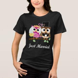 Camiseta Corujas engraçadas do amor do casamento: T-shirt