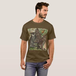 Camiseta Corujas no t-shirt escuro básico dos homens do