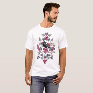 Camiseta Corvo, coração de sangramento & teste padrão