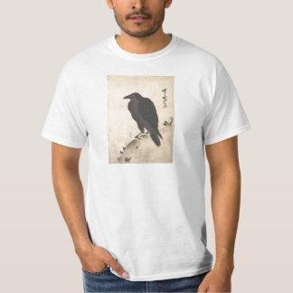 Camiseta Corvo de Kawanabe Kyosai que descansa na arte de