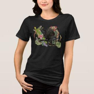 Camiseta Corvo do t-shirt do animal do espírito da fortuna