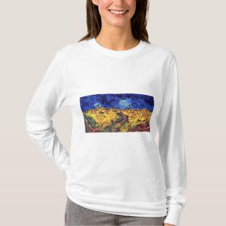 Camiseta Corvos sobre o Wheatfield por Vincent van Gogh