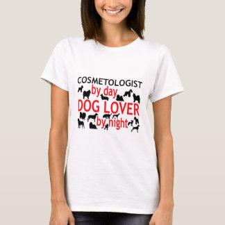Camiseta Cosmetologist pelo amante do cão do dia em a noite