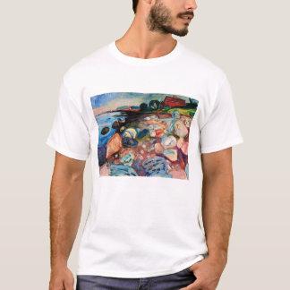 Camiseta Costa com a casa vermelha por Edvard Munch