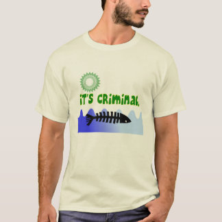 "Camiseta Costa do golfo do derramar de óleo ""é"" peixe"