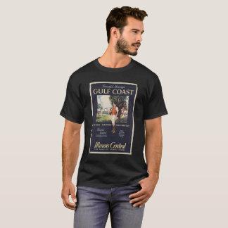 Camiseta COSTA DO GOLFO, imagem CENTRAL do vintage de