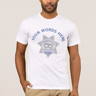 Camiseta Costume aposentado do crachá do oficial de