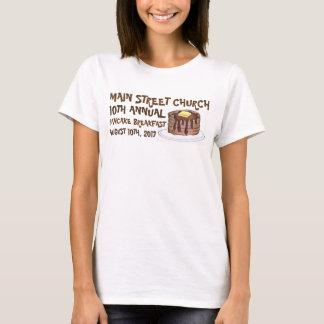 Camiseta Costume do Social do pequeno almoço da panqueca da