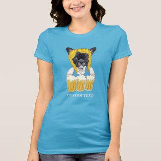 Camiseta Costume engraçado do amante da cerveja do buldogue