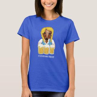 Camiseta Costume engraçado do amante da cerveja do cão do