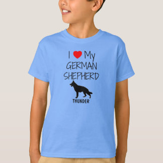 Camiseta Costume eu amo meu german shepherd