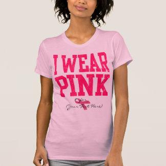 Camiseta Costume eu visto t-shirt cor-de-rosa do estilo da