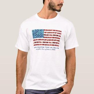 Camiseta Costume patriótico da camuflagem legal da bandeira