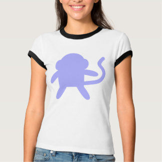 Camiseta Costume roxo de Monkee do macaco da lavanda