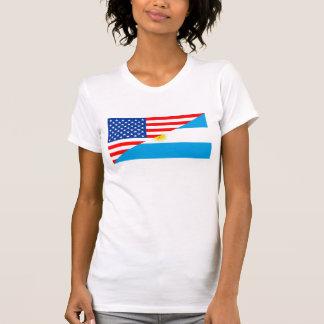 Camiseta coun dos EUA da bandeira de Estados Unidos América