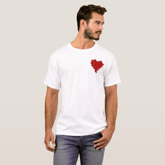 Camiseta Courtney. Selo vermelho da cera do coração com