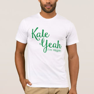 Camiseta Couve yeah eu sou o t-shirt dos homens do Vegan