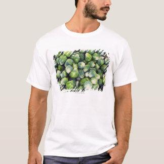 Camiseta Couves de Bruxelas frescas verde-clara