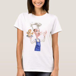 Camiseta Cozinheiro chefe com Hotdog perfeito