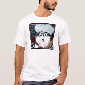 Camiseta Cozinheiro chefe do Malamute do Alasca