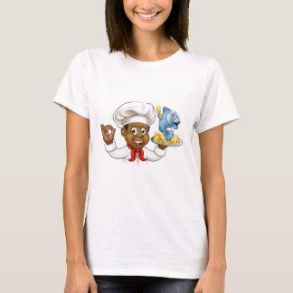 Camiseta Cozinheiro chefe do peixe com batatas fritas dos