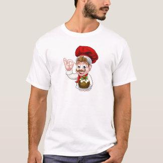 Camiseta Cozinheiro chefe no chapéu do Natal que guardara o
