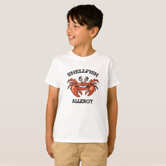 Camiseta Crabby da alergia do marisco