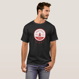 Camiseta crachá 2018 do ano novo