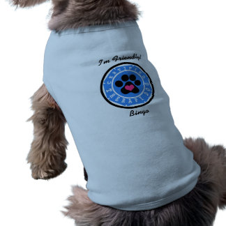 Camiseta Crachá certificado do azul do cão da terapia