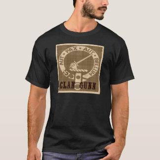 Camiseta Crachá da crista de Gunn do clã - Sepia