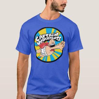 Camiseta Crachá de voo do herói do capitão Cuecas |