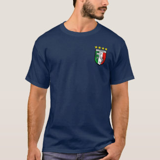Camiseta Crachá italiano do emblema da bandeira