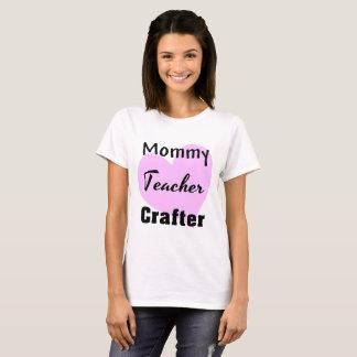 Camiseta Crafter do professor das mamães - rosa preto de N