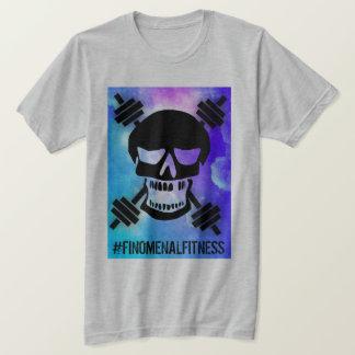Camiseta Crânio abstrato do Barbell