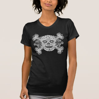 Camiseta Crânio antigo & Crossbones do açúcar