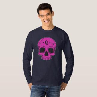 Camiseta Crânio artístico (rosa)