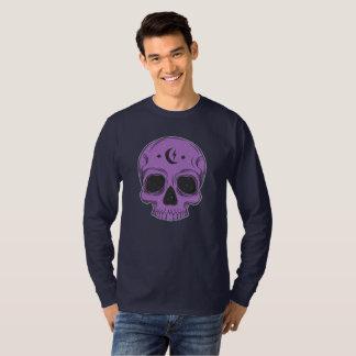 Camiseta Crânio artístico (roxo)