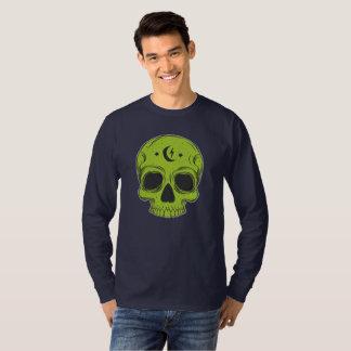 Camiseta Crânio artístico (verde)