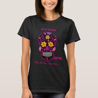 Camiseta Crânio assustador A5 do açúcar