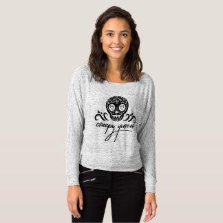 Camiseta Crânio assustador Emoji do açúcar de Yinzer