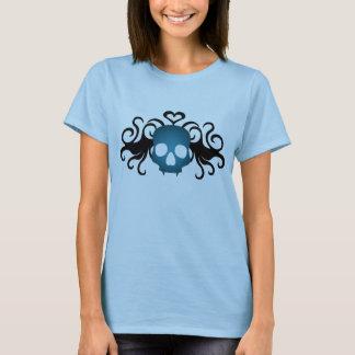 Camiseta Crânio azul bonito do vampiro
